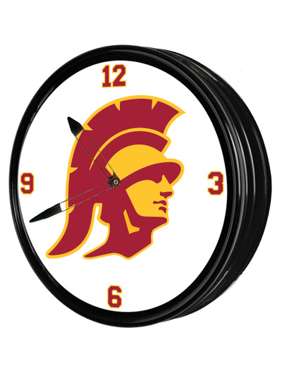 USC Trojans 19 inch Illuminated LED Team Spirit Clock-Trojan | Grimm Industries |US-550-02