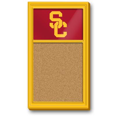 USC Trojans Team Board Corkboard-Primary Logo-Gold | Grimm Industries |US-640-01