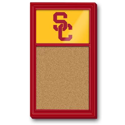 USC Trojans Team Board Corkboard-Primary Logo-Red | Grimm Industries |US-640-02