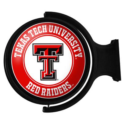 Texas Tech Red Raiders Rotating Illuminated LED Team Spirit Wall Sign-Round-Primary Logo | Grimm Industries |TT-115-01