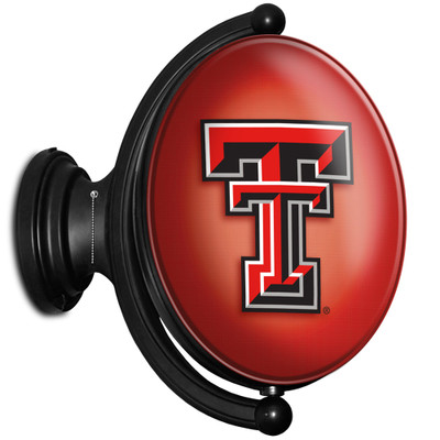 Texas Tech Red Raiders Rotating Illuminated LED Team Spirit Wall Sign-Oval-Primary Logo | Grimm Industries |TT-125-01