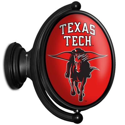 Texas Tech Red Raiders Rotating Illuminated LED Team Spirit Wall Sign-Oval-Secondary Logo | Grimm Industries |TT-125-02
