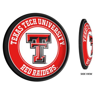 Texas Tech Red Raiders Slimline Illuminated LED Team Spirit Wall Sign-Round-Primary Logo | Grimm Industries |TT-130-01
