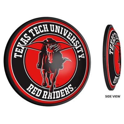 Texas Tech Red Raiders Slimline Illuminated LED Team Spirit Wall Sign-Round-Secondary Logo | Grimm Industries |TT-130-02
