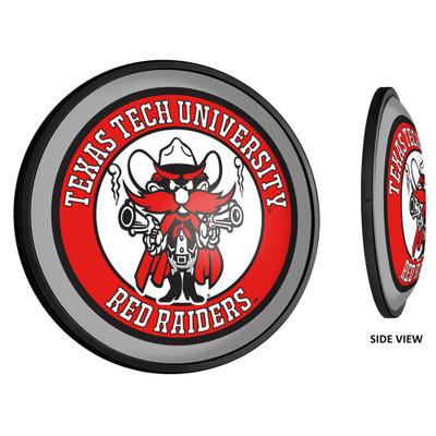 Texas Tech Red Raiders Slimline Illuminated LED Team Spirit Wall Sign-Round-Raider Red | Grimm Industries |TT-130-03