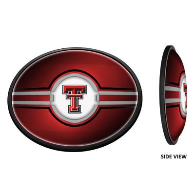 Texas Tech Red Raiders Slimline Illuminated LED Team Spirit Wall Sign-Oval-Primary Logo | Grimm Industries |TT-140-01
