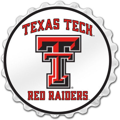 Texas Tech Red Raiders Team Spirit Bottle Cap Wall Sign-Primary Logo | Grimm Industries |TT-210-01