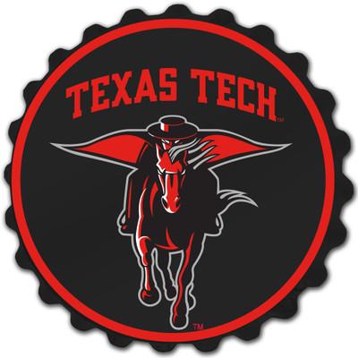 Texas Tech Red Raiders Team Spirit Bole Cap Wall Sign-Secondary Logo | Grimm Industries |TT-210-02