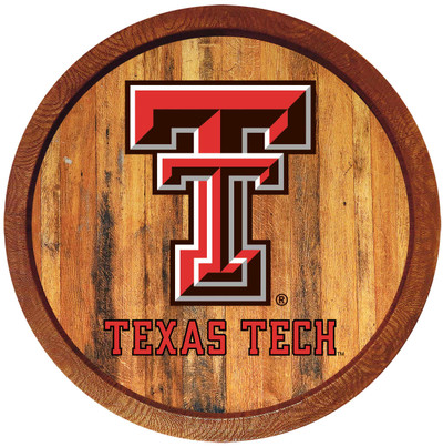 Texas Tech Red Raiders 20 inch Barrel Team Logo Wall Sign-Primary Logo-Color | Grimm Industries |TT-240-01