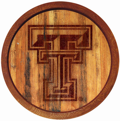 Texas Tech Red Raiders 20 inch Barrel Team Logo Wall Sign-Primary Logo-Branded | Grimm Industries |TT-240-02