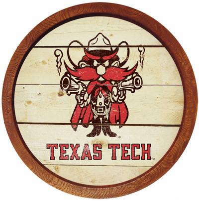 Texas Tech Red Raiders 20 inch Barrel Team Logo Wall Sign-Raider Red-Branded | Grimm Industries |TT-240-05