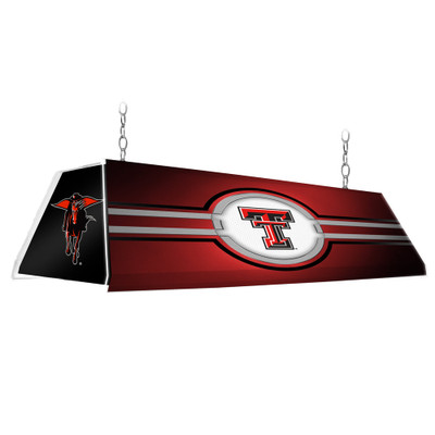 Texas Tech Red Raiders 46 inch Edge Glow Pool table Light-Red-Secondary | Grimm Industries |TT-320-01