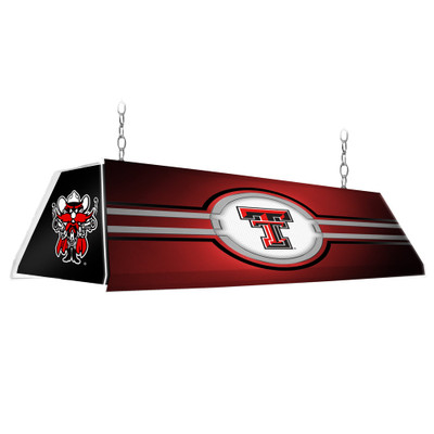 Texas Tech Red Raiders 46 inch Edge Glow Pool table Light-Red-Raider Red | Grimm Industries |TT-320-02