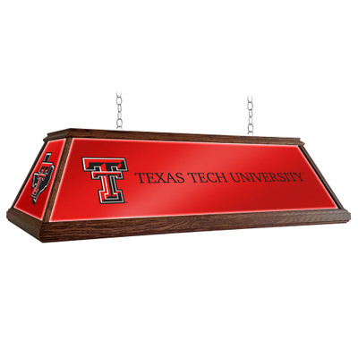 Texas Tech Red Raiders 49 inch Premium Deluxe Wood Pool Table Light-State Mark | Grimm Industries |TT-330-01