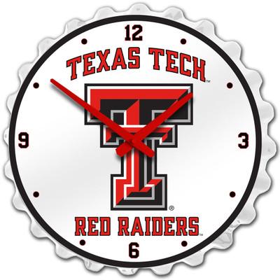 Texas Tech Red Raiders Team Spirit Bole Cap Wall Clock-Primary Logo | Grimm Industries |TT-540-01