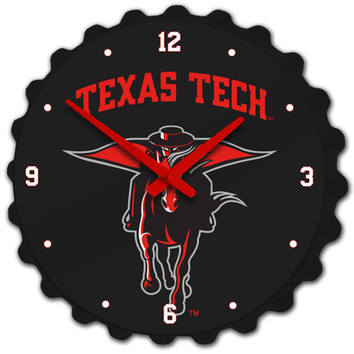 Texas Tech Red Raiders Team Spirit Bole Cap Wall Clock-Secondary Logo | Grimm Industries |TT-540-02