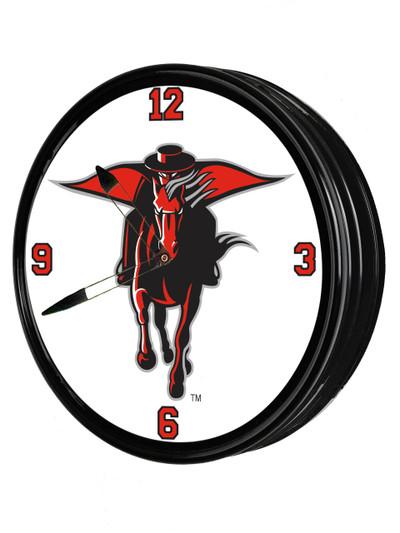 Texas Tech Red Raiders 19 inch Illuminated LED Team Spirit Clock-Secondary Logo | Grimm Industries |TT-550-02