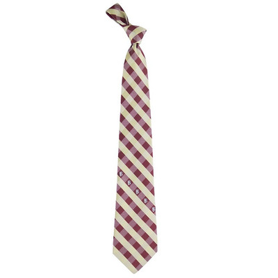 FSU Seminoles Check Woven Poly Tie | Eagles Wings | 6204