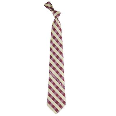 FSU Seminoles Check Woven Poly Tie | Eagles Wings | 6204
