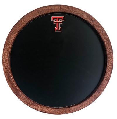 Texas Tech Red Raiders 20 inch Barrel Team Logo Chalkboard-Primary Logo | Grimm Industries |TT-630-01