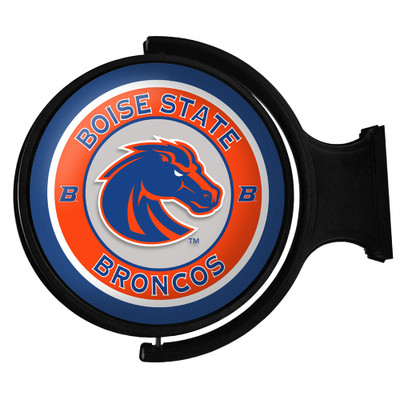 Boise State Broncos Rotating Illuminated LED Team Spirit Wall Sign-Round-Primary logo | Grimm Industries |BS-115-01