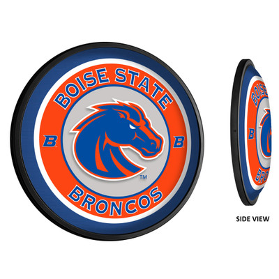 Boise State Broncos Slimline Illuminated LED Team Spirit Wall Sign-Round-Primary Logo | Grimm Industries |BS-130-01
