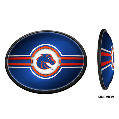 Boise State Broncos Slimline Illuminated LED Team Spirit Wall Sign-Oval-Primary Logo | Grimm Industries |BS-140-01
