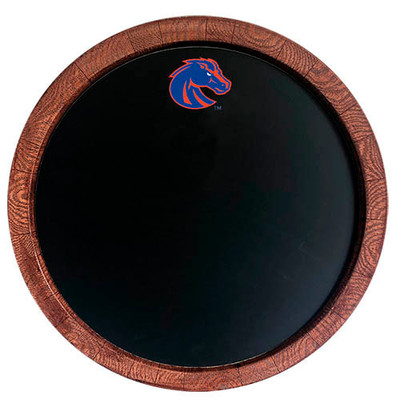 Boise State Broncos 20 inch Barrel Team Logo Chalkboard-Primary Logo | Grimm Industries |BS-630-01
