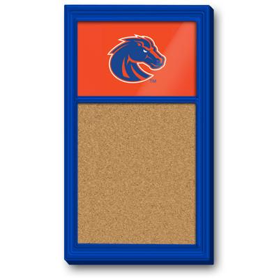 Boise State Broncos Team Board Corkboard-Primary Logo   Grimm Industries  BS-640-01