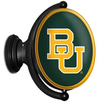 Baylor Bears Rotating Illuminated LED Team Spirit Wall Sign-Round-Primary Logo | Grimm Industries |BA-125-01