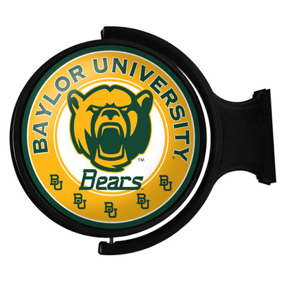 Baylor Bears Rotating Illuminated LED Team Spirit Wall Sign-Round-Bears | Grimm Industries |BA-115-02