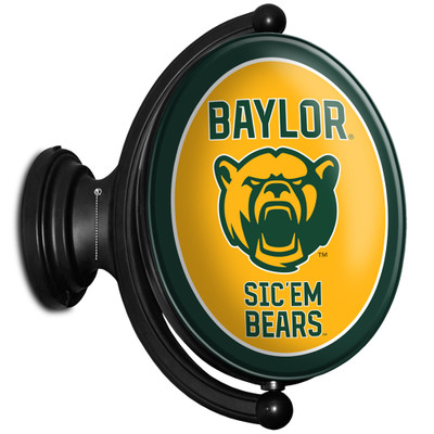 Baylor Bears Rotating Illuminated LED Team Spirit Wall Sign-Oval-Bears | Grimm Industries |BA-125-02