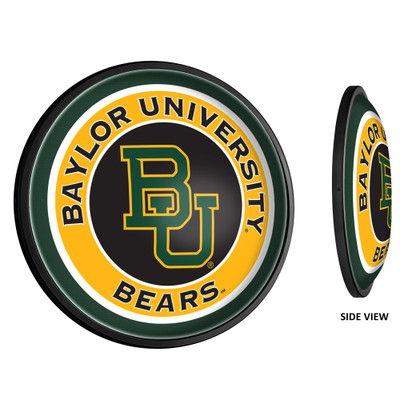 Baylor Bears Slimline Illuminated LED Team Spirit Wall Sign-Round-Primary Logo | Grimm Industries |BA-130-01