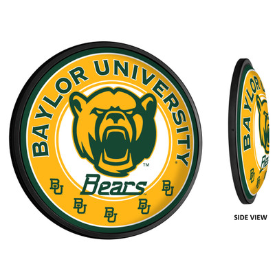 Baylor Bears Slimline Illuminated LED Team Spirit Wall Sign-Round-Bears | Grimm Industries |BA-130-02