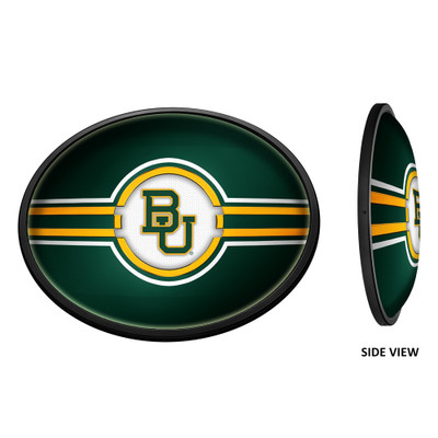 Baylor Bears Slimline Illuminated LED Team Spirit Wall Sign-Oval-Primary | Grimm Industries |BA-140-01