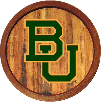 Baylor Bears 20 inch rrel Team Logo Wall Sign-Primary Logo-Color | Grimm Industries |BA-240-01