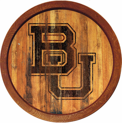 Baylor Bears 20 inch rrel Team Logo Wall Sign-Primary Logo-Branded | Grimm Industries |BA-240-02