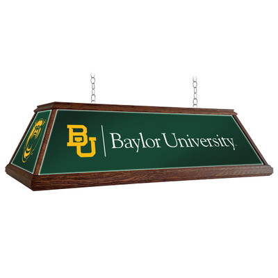 Baylor Bears 49 inch Premium Deluxe Wood Pool Table Light-Institution Logos | Grimm Industries |BA-330-01