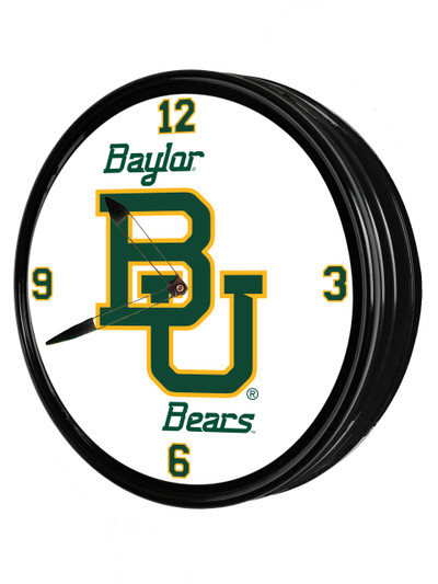 Baylor Bears 19 inch Illuminated LED Team Spirit Clock-Primary Logo | Grimm Industries |BA-550-01