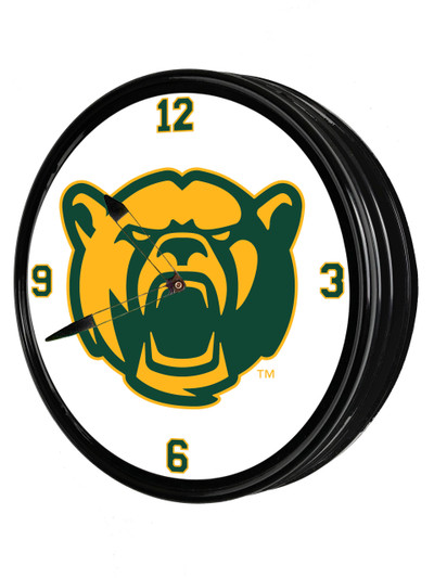 Baylor Bears 19 inch Illuminated LED Team Spirit Clock-Secondary Logo | Grimm Industries |BA-550-02