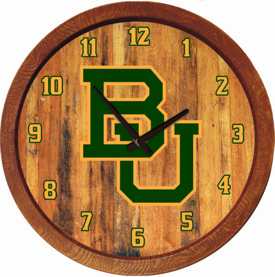 Baylor Bears 20 inch rrel Team Logo Wall Clock-Primary Logo-Color | Grimm Industries |BA-560-01
