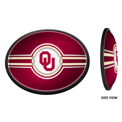 Oklahoma Sooners Slimline Illuminated LED Team Spirit Wall Sign-Oval-Primary Logo | Grimm Industries |OK-140-01