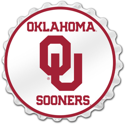 Oklahoma Sooners Team Spirit Bottle Cap Wall Sign-Primary Logo | Grimm Industries |OK-210-01
