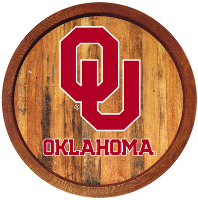 Oklahoma Sooners 20 inchBarrel Team Logo Wall Sign-Primary Logo-Color | Grimm Industries |OK-240-01