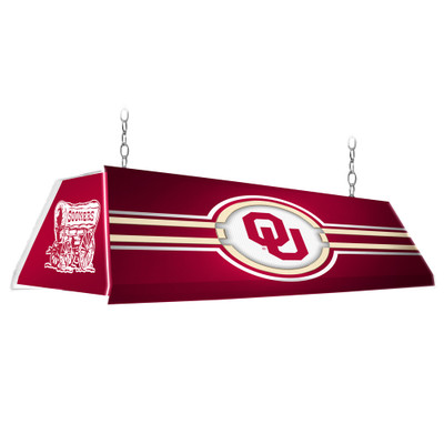 Oklahoma Sooners 46 inch Edge Glow Pool Table Light-Red | Grimm Industries |OK-320-01