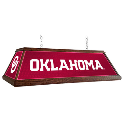 Oklahoma Sooners 49 inch Premium Deluxe Wood Pool Table Light-Red | Grimm Industries |OK-330-01