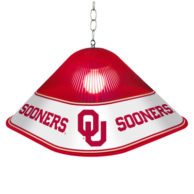 Oklahoma Sooners Game Table Light-Square-Red | Grimm Industries |OK-410-01