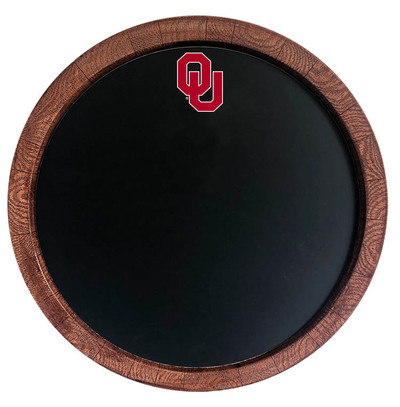 Oklahoma Sooners 20 inch Barrel Team Logo Chalkboard-Primary Logo | Grimm Industries |OK-630-01