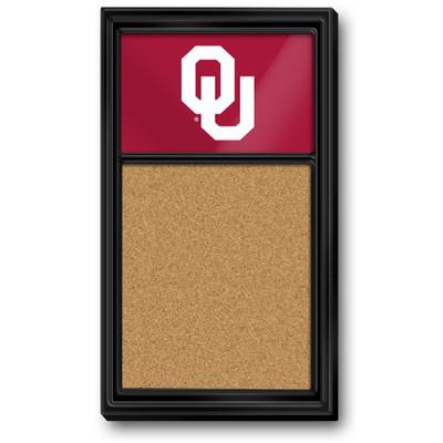 Oklahoma Sooners Team Board Corkboard-Primary Logo | Grimm Industries |OK-640-01