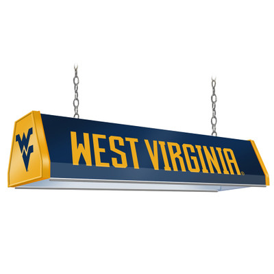 West Virginia Mountaineers 38 inch Standard Pool Table Light-Blue | Grimm Industries |WV-310-01